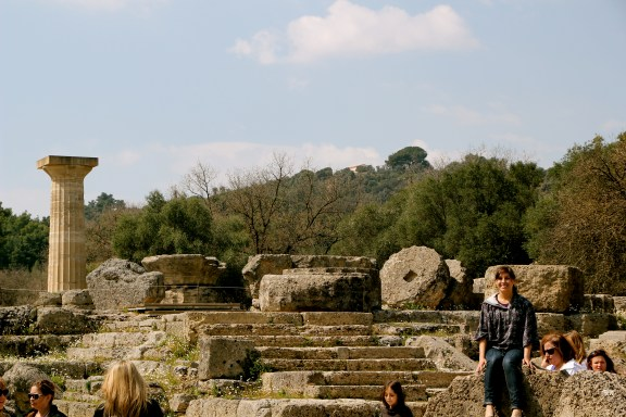 Temple of Zeus- I'm sitting on a Massive Piece to a Column