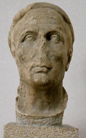 Statue Head of M. Appius Bradoua- Olympia Museum