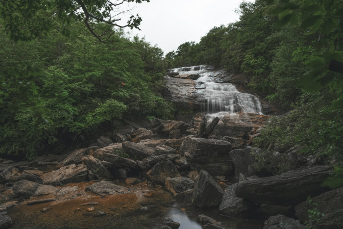 Graveyard Fields Second Falls - Western North Carolina Waterfalls