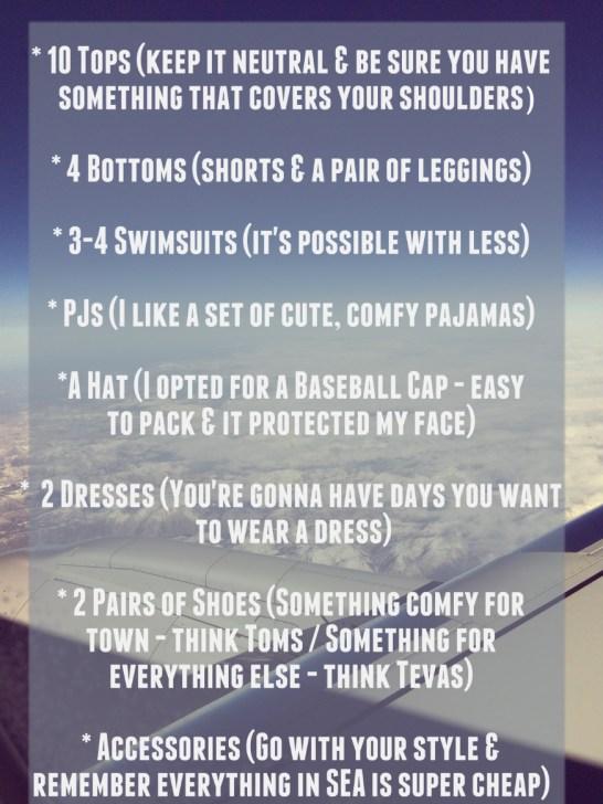 Packing Shortlist
