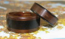 African Blackwood and Rosewood wedding bands