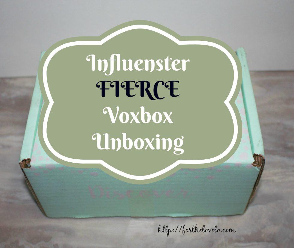 Influenster FIERCE VoxBox Unboxing