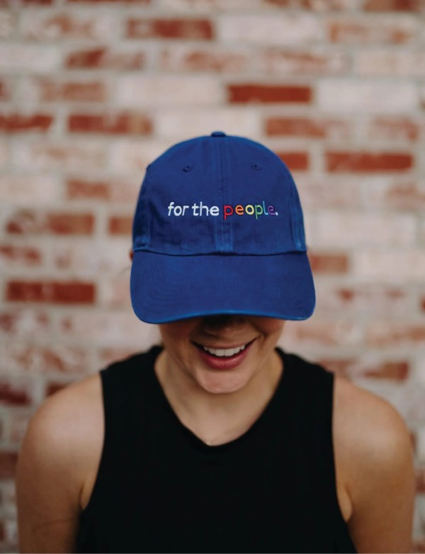 """blue ftp. hat with """"for the people"""" embroidered"""