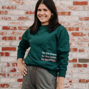 On Repeat Pullover Sweatshirt in Green