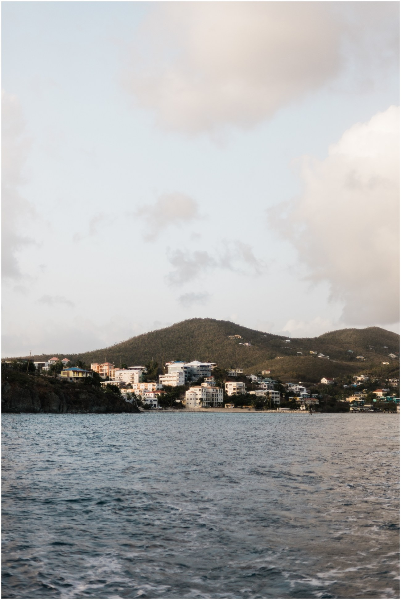View from the ferry of Cruz Bay, St. John, US Virgin Islands