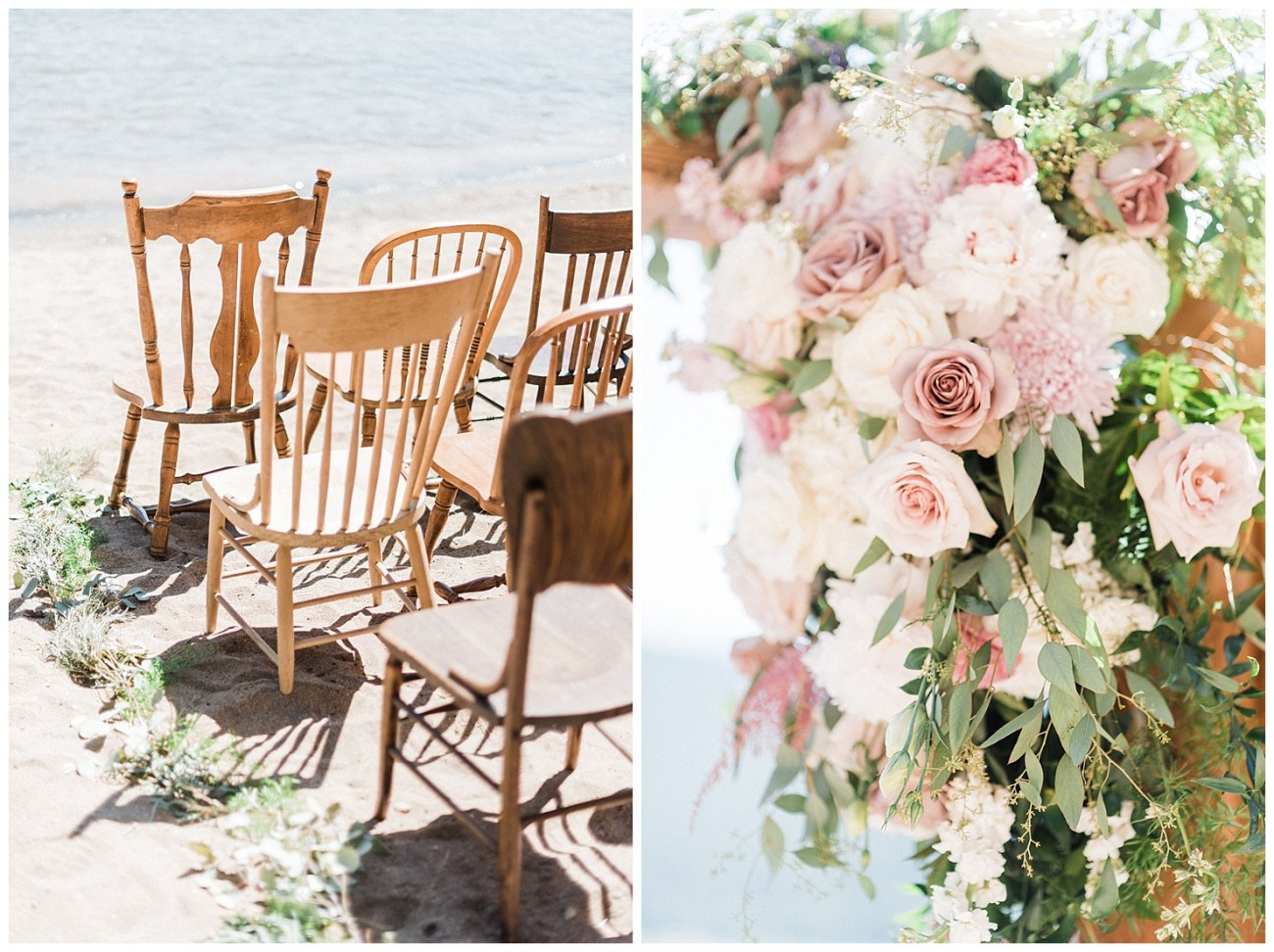 Ceremony details at a Lake Coeur d'Alene Wedding by Forthright Photo