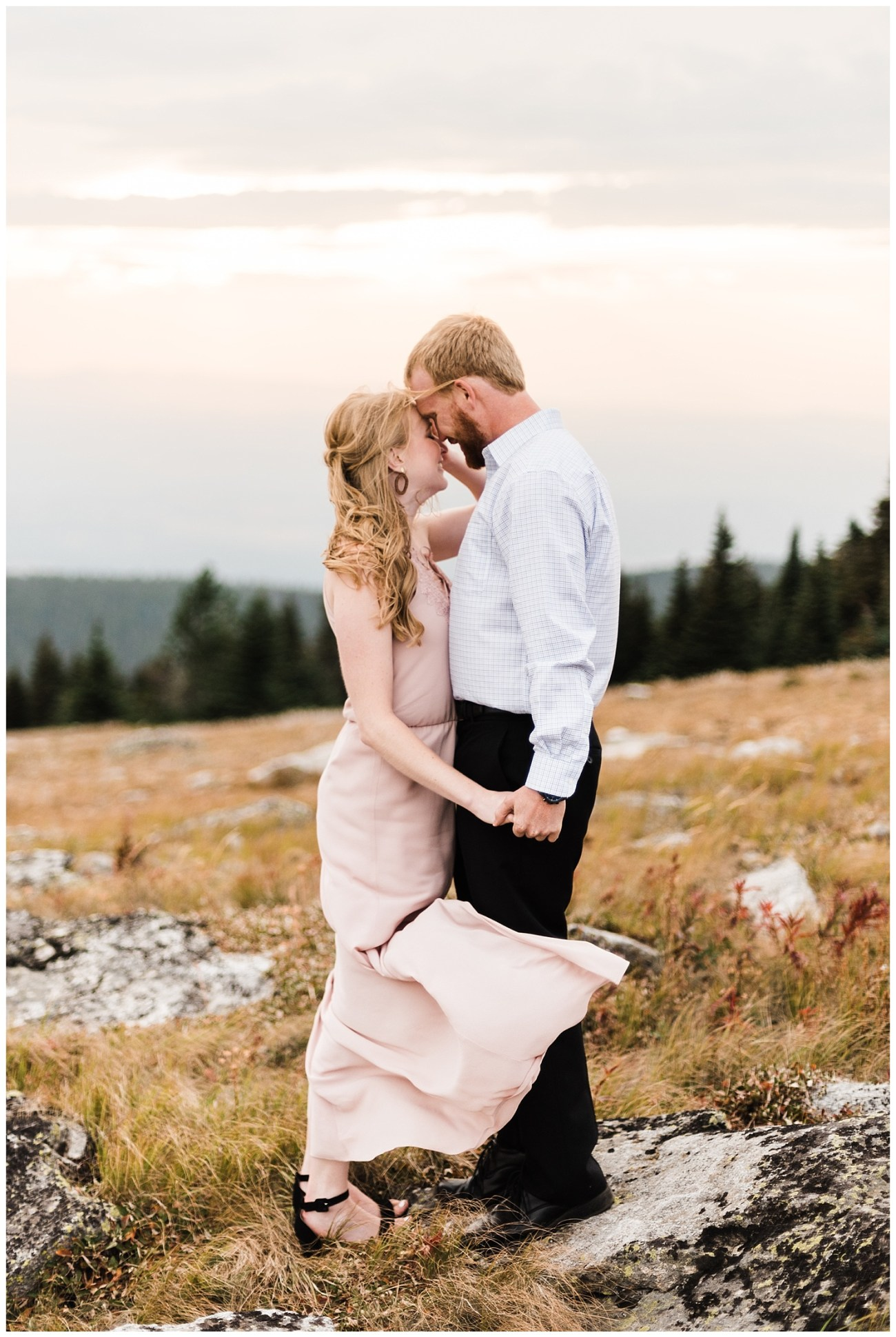Mt. Spokane Engagement Session by Forthright Photo