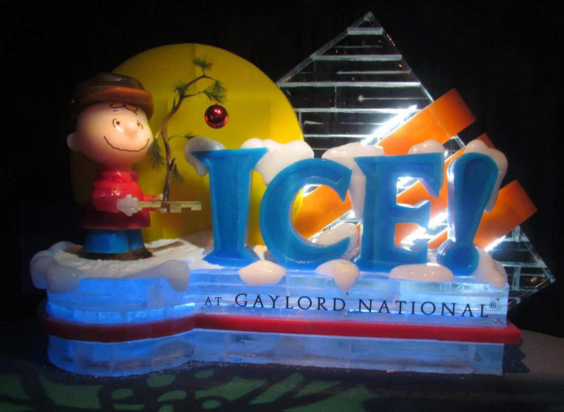 Photos Ice Featuring A Charlie Brown Christmas Opens At Gaylord National Resort Fort Hunt Herald