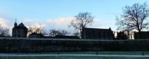 Bergehus festning i vinterskurd, vi forbereder oss til seinsommeren / Bergenhus Fortress in winterdress
