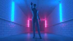 3D hallway octane David Bowie