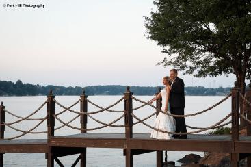 Evening Wedding at lake