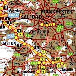 Cheadle on the map, lower right.