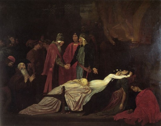 the fortnightly review rsaquo three essays on romeo and juliet frederick leighton the reconciliation of the montagues and capulets over the dead bodies of romeo and juliet