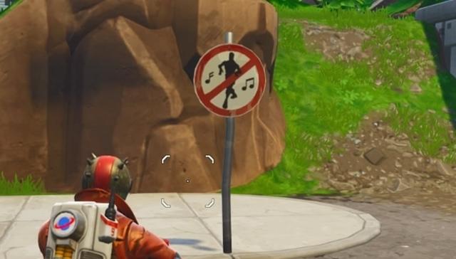 ダンス禁止標識
