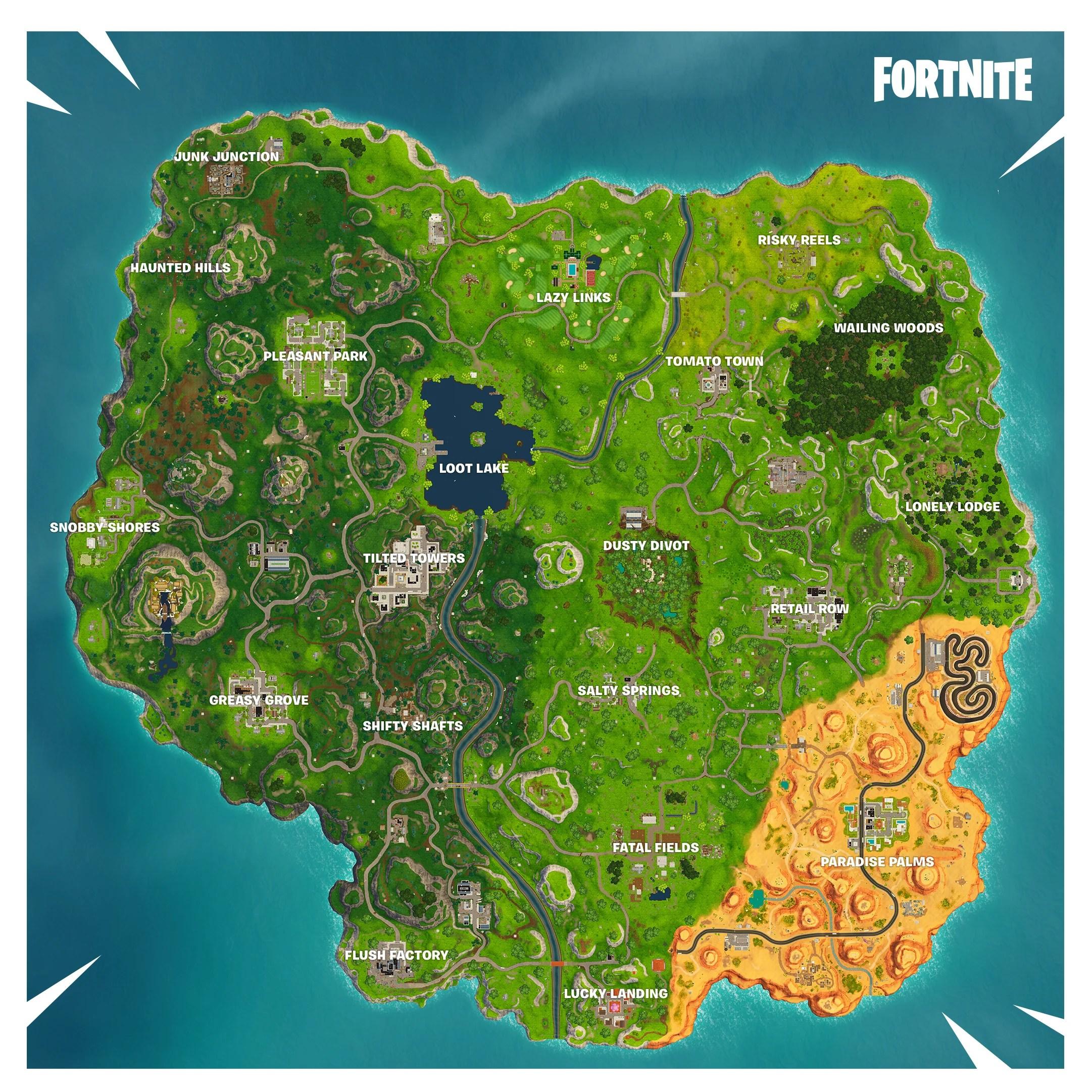 Fortnite Season 5 New Map Changes Fortnite Insider