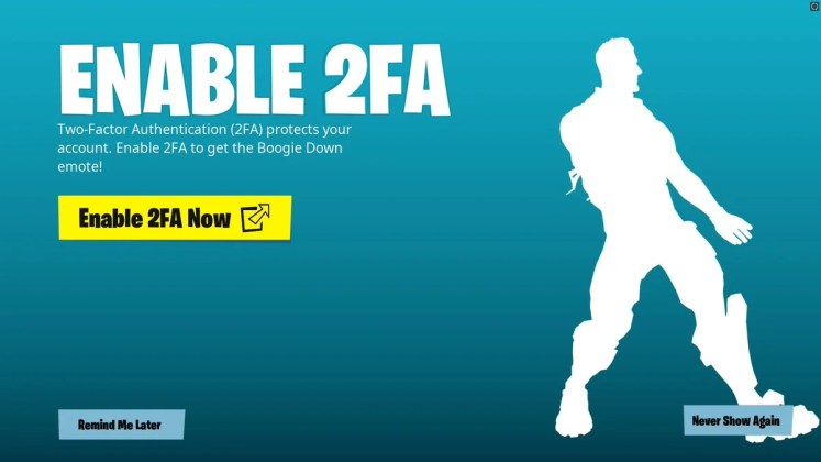 Fortnite 2FA - How to enable and get Two Factor Authentication on Fortnite  & Reward   Fortnite Insider