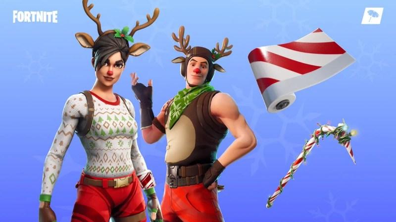 Fortnite Item Shop 19th December Christmas Skins Candy Cane Wrap
