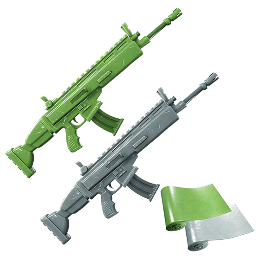 Fortnite Leaked Weapon Wraps From v9.20 - Green & Grey Toy