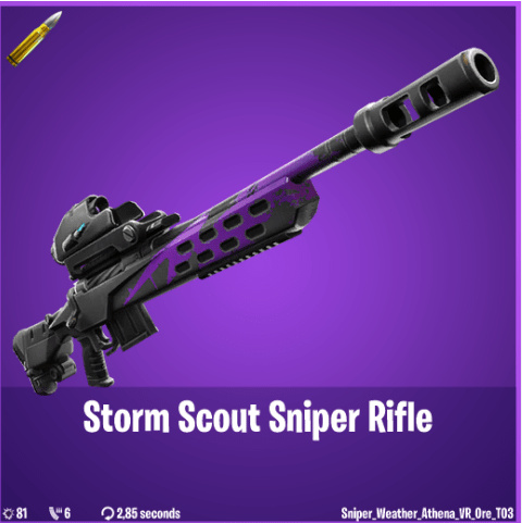 Fortnite Weapon Leak - Storm Scout Sniper Rifle Epic