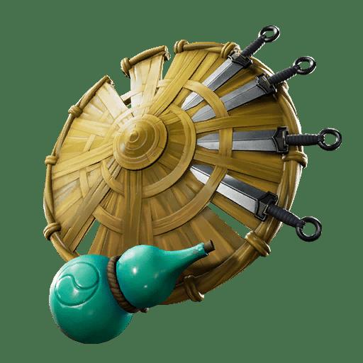 Fortnite v10.10 Leaked Back Bling - Kunai Shield