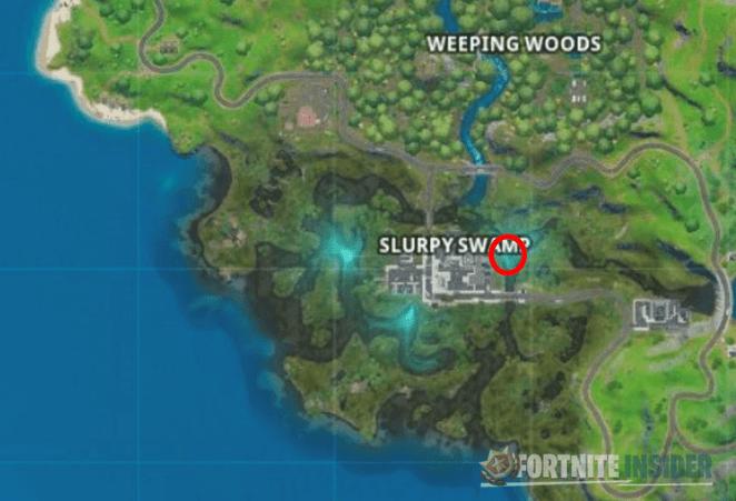 Fortnite C2:S1 Hidden Letter R Location