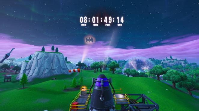 Fortnite Season 10 event countdown timer above rocket