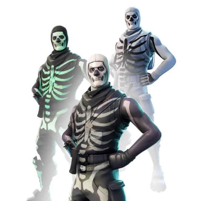 Fortnite Skull Trooper White Style Skin