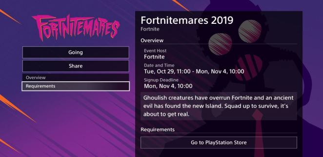 fortnitemares event description