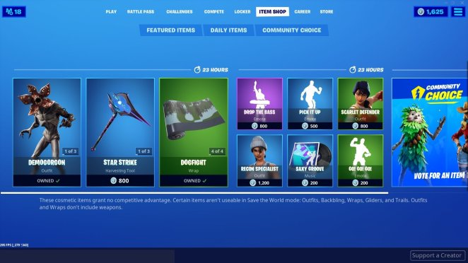 Daily Fortnite Item Shop Today 5th 6th November