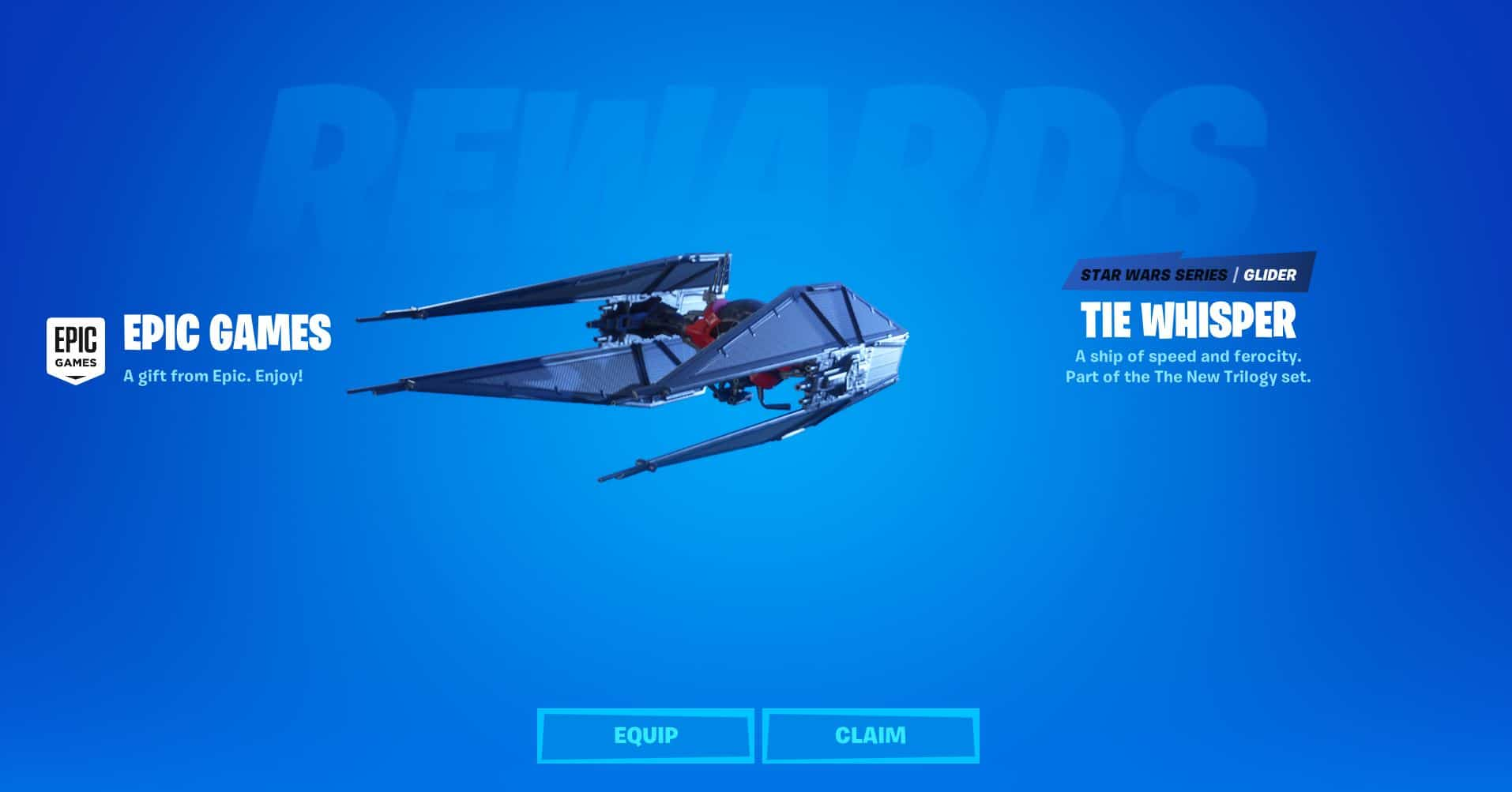 Fortnite Tie Whisper Glider