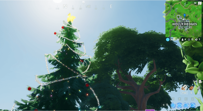 Fortnite Winterfest Holiday Tree Locations - Holly Hedges