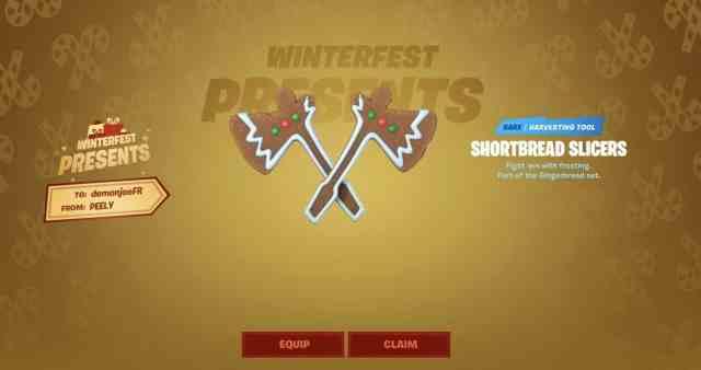Shortbread Slicers Fortnite Pickaxe
