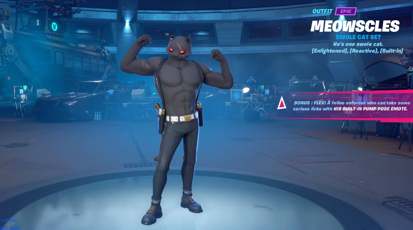 Fortnite Meowscles Shadow Style