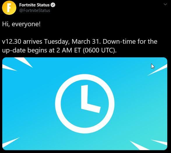 Fortnite Update v12.30