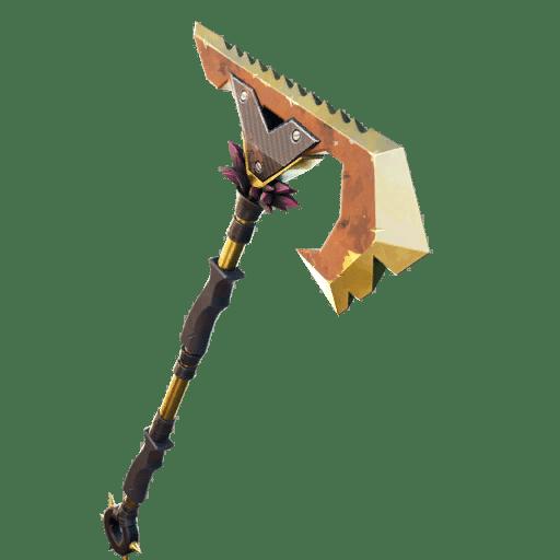 Fortnite v13.20 Leaked Pickaxe - Weathered Gold