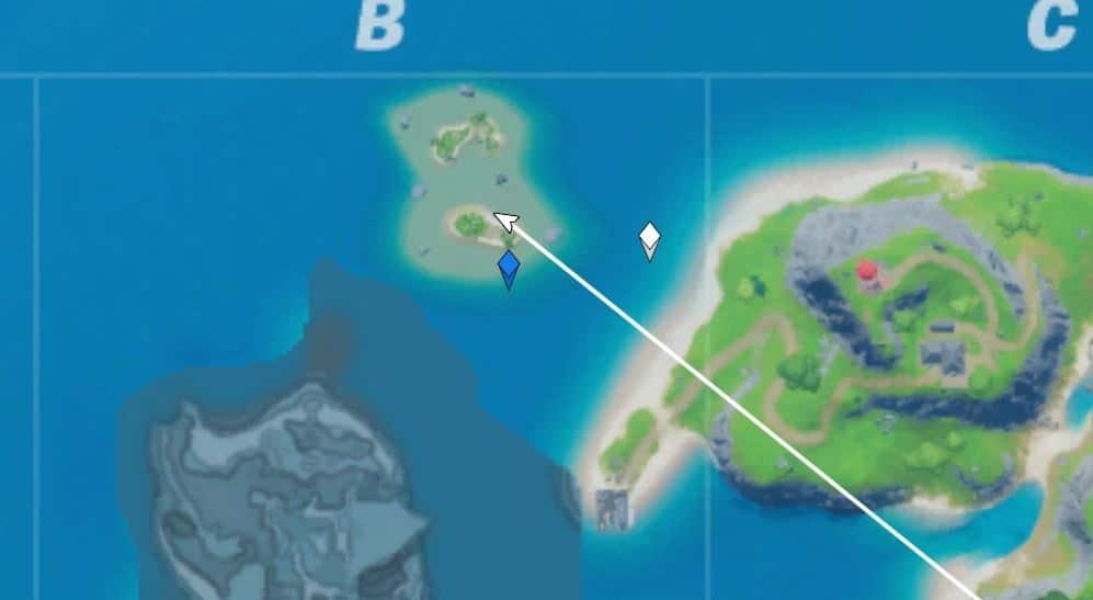 Fortnite desafío secretro la era nuclear isla compañeros coral
