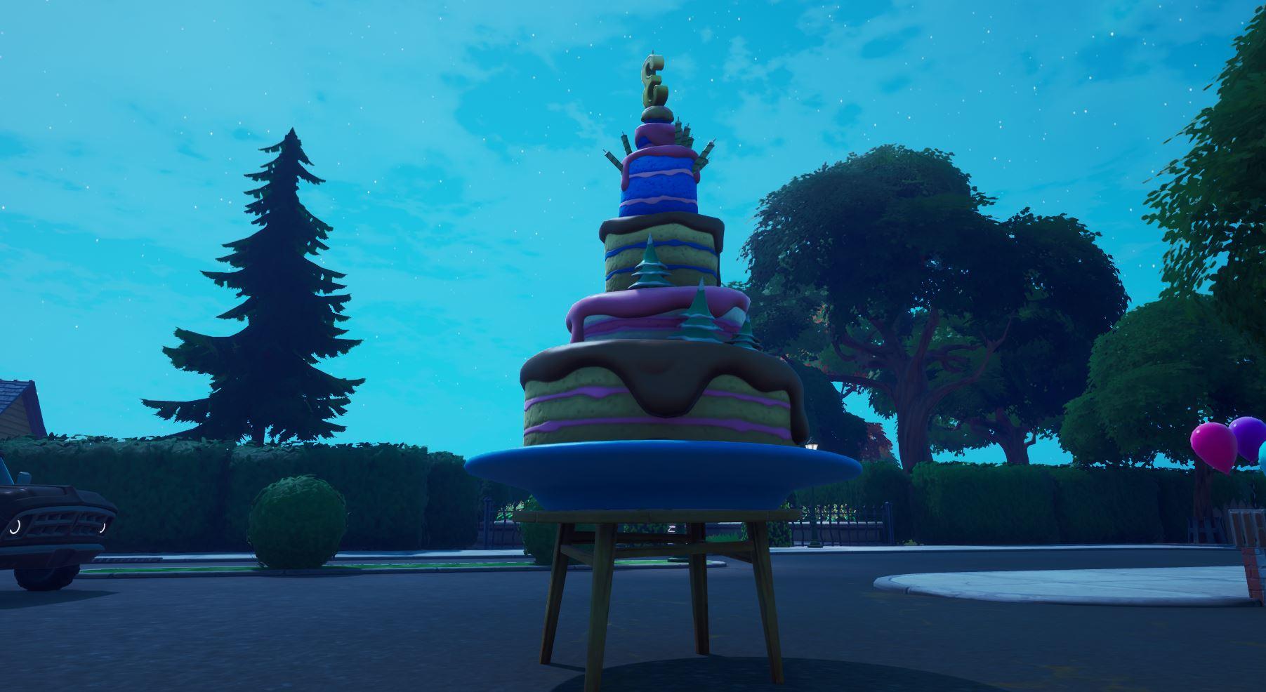 Fortnite Birthday Cake Locations Dance In Front Of Different Birthday Cakes Fortnite Insider