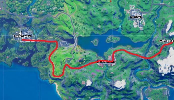Guida la macchina dalla palude fangosa al percorso della mappa dell'angolo dispettoso