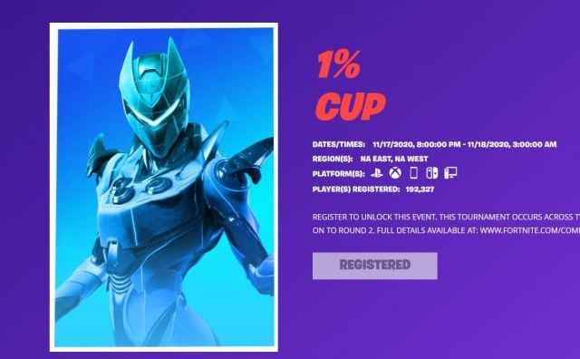 1% Cup Fortnite