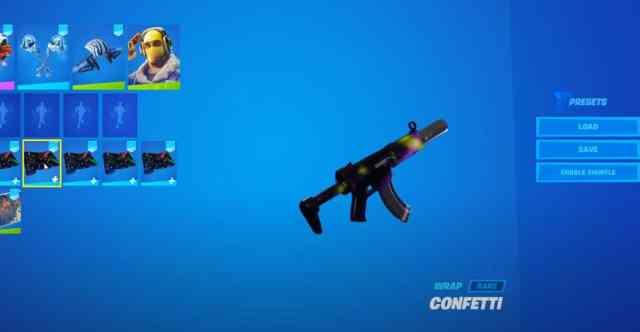 Confetti Fortnite Wrap