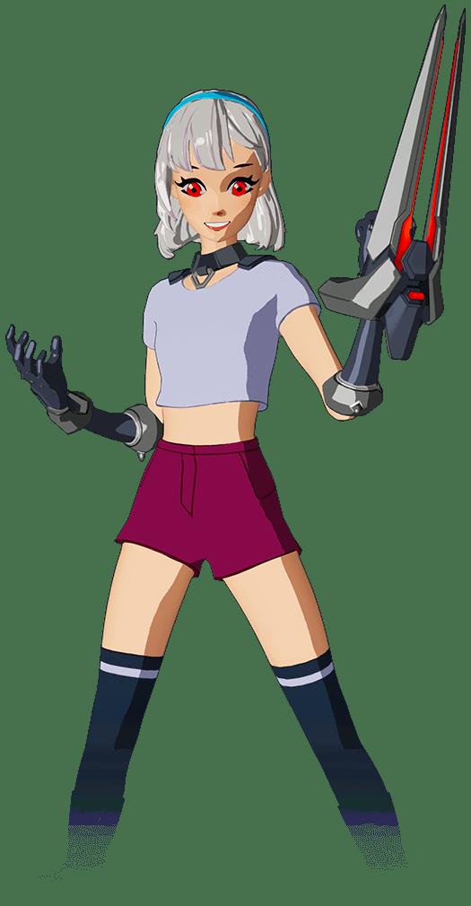 Lexa Anime Fortnite skin