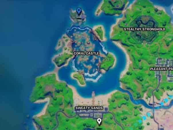Fortnite Sharky Shell Location
