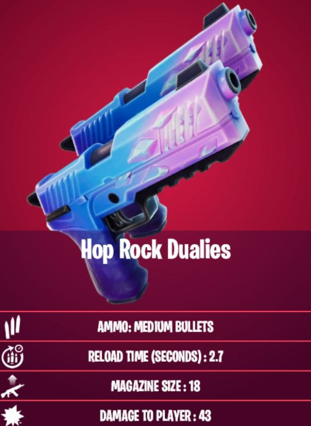 Hop Rock Dualies Stats Fortnite