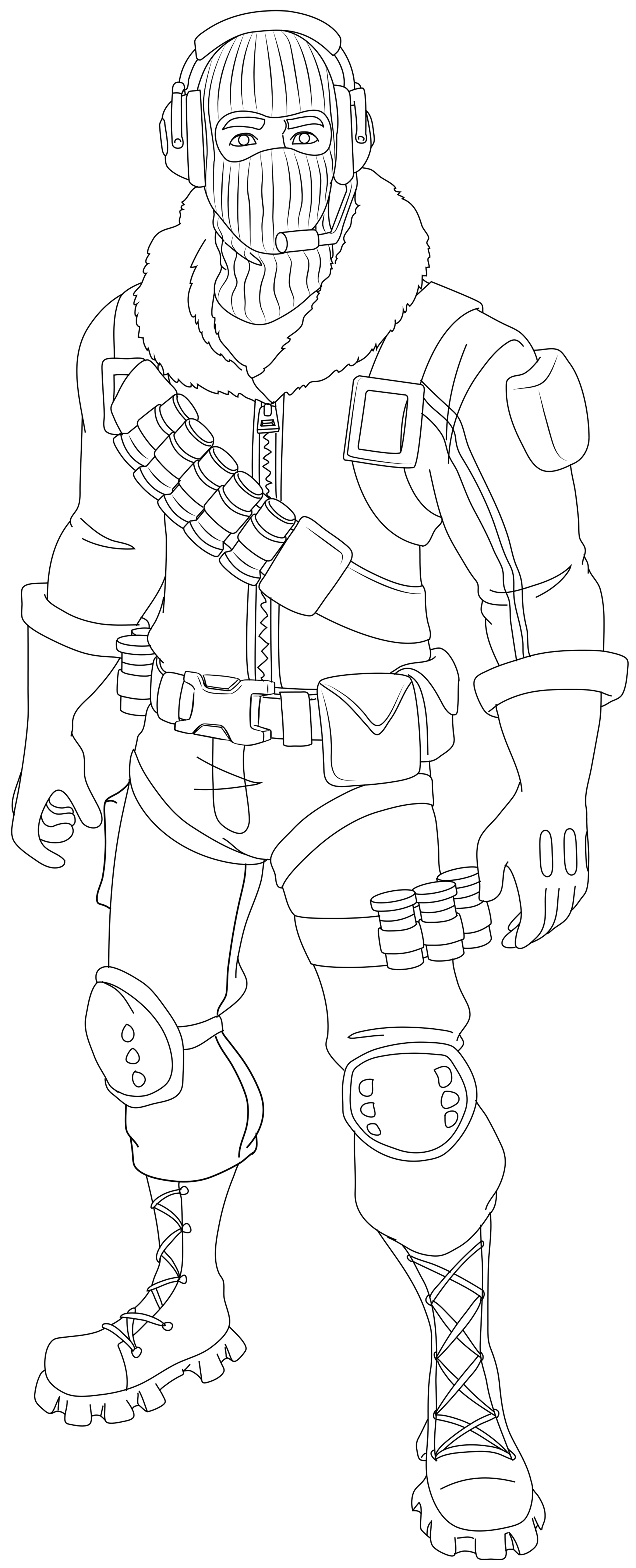Fortnite Colouring Pages Lynx