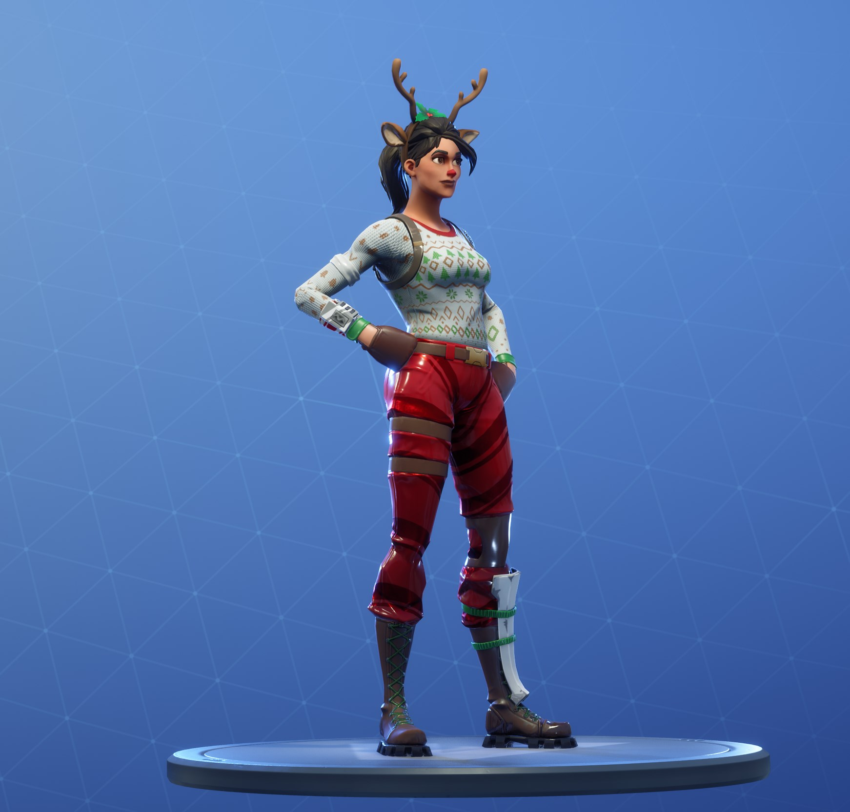 Fortnite Red Nosed Raider Skin Rare Outfit Fortnite Skins