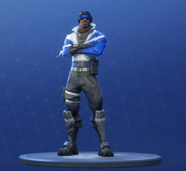 blue striker skin 1 - fortnite blue striker png