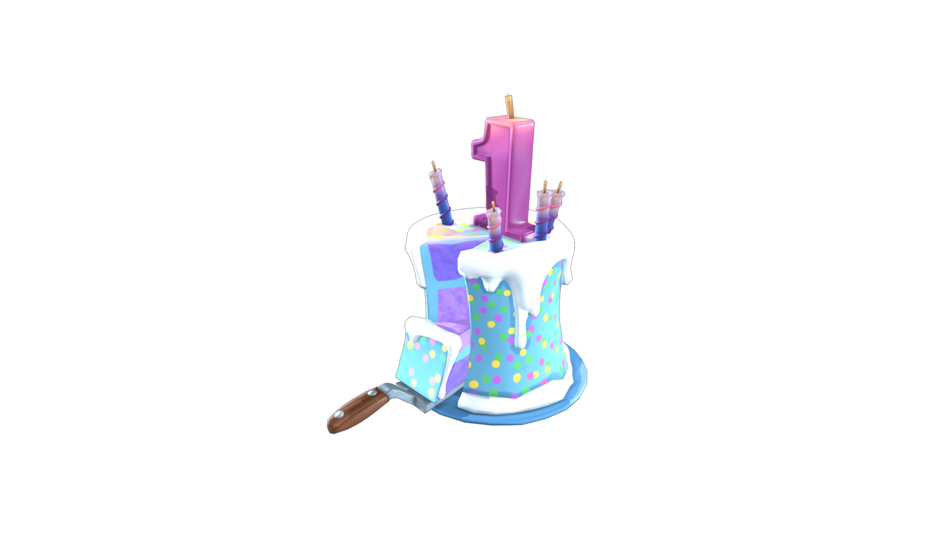 Fortnite Birthday Cake Back Bling | Rare Backpack - Fortnite