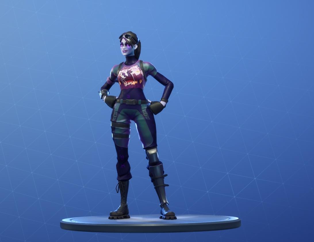 dark bomber skin 2 - skin ligne rouge fortnite png