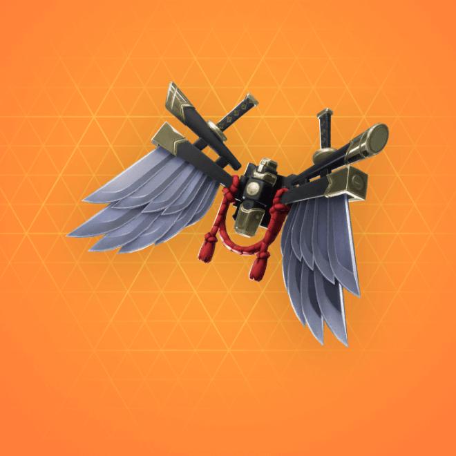 Bladed Wings Back Bling