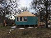 Teal yurt